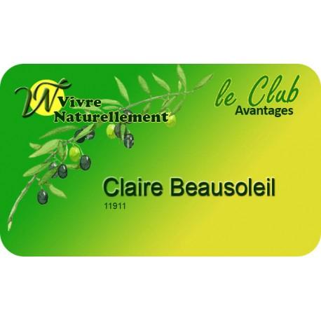 Adhésion 1 an au Club Avantages Vivre Naturellement
