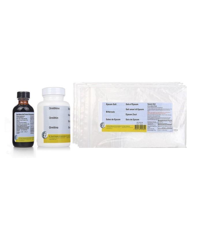 Pack 5 cures du foie Dr Clark avec sels d'Epsom poudre