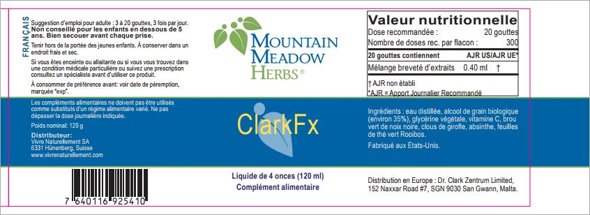 Clark-Fx - Mountain Meadow Herbs - Flacon de 120 ml