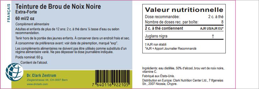 Brou vert de noix noire  60 ml - Black Walnut - Dr Clark -Teinture